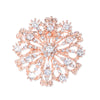 Rose Gold Starburst Rhinestone Brooch