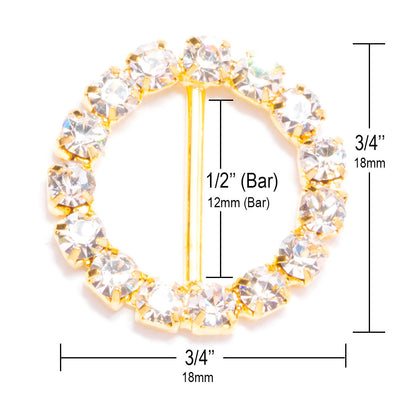 Gold Rhinestone Buckle Measurements