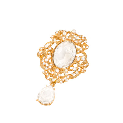 Gold Brooch With Dangle, Totally Dazzled 416-G