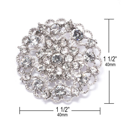rhinestone brooch pin wholesale Measurements