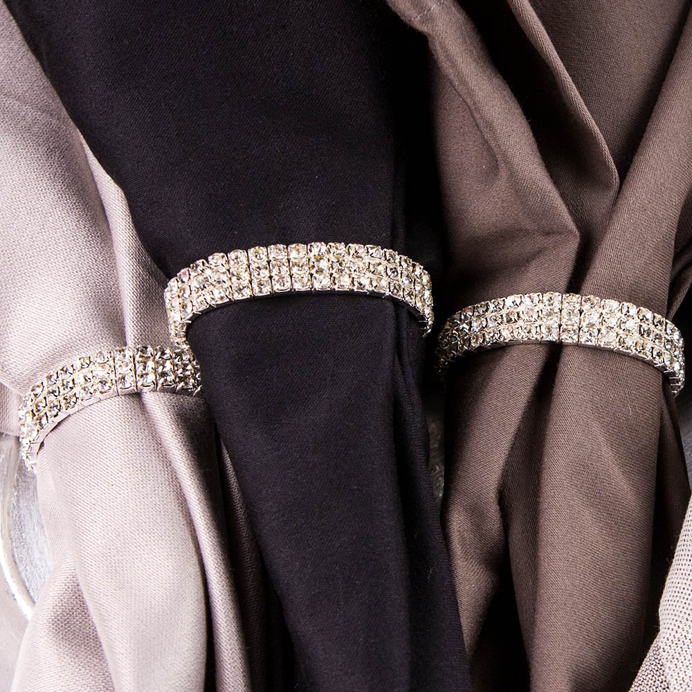 RHINESTONE STRETCH LOOP NAPKIN RING