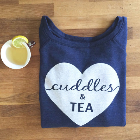 cuddles & coffee muscle tank in asphalt grey