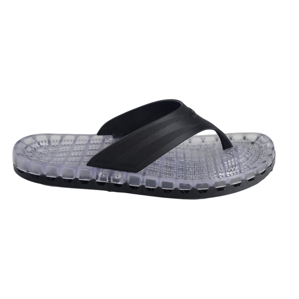 Ibiza - Clear Thong Sandal - Black