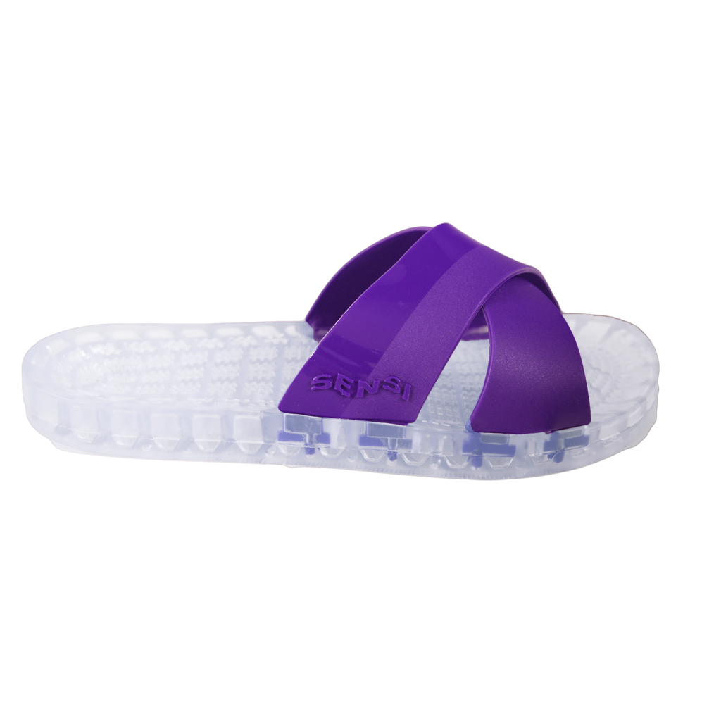 Amalfi - Clear Slide Sandal - Purple