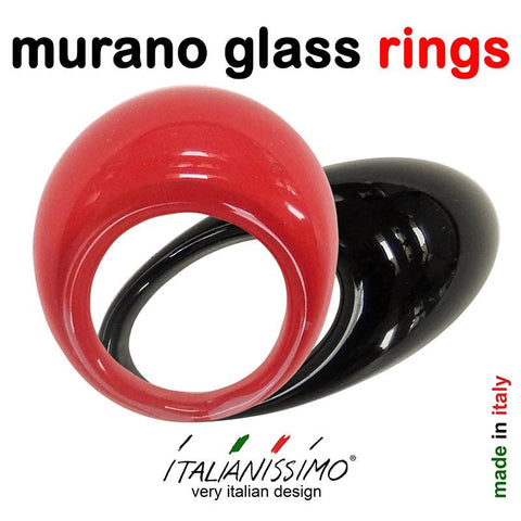 * RINGS • handmade murano glass rings
