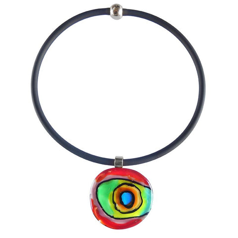 "ABSTRACT ""B"" • murano glass necklace • MULTI 
