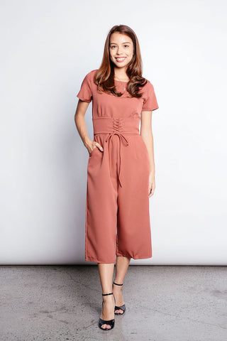 Garnet Romper in Brown