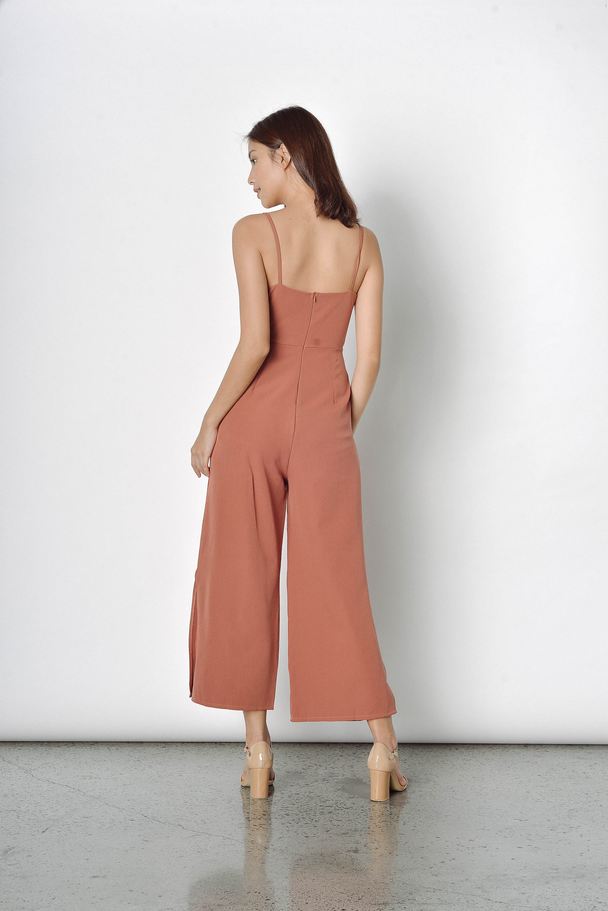 Zirconia Jumpsuit in Brown