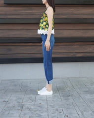Ilona Spag Laced Top in Yellow