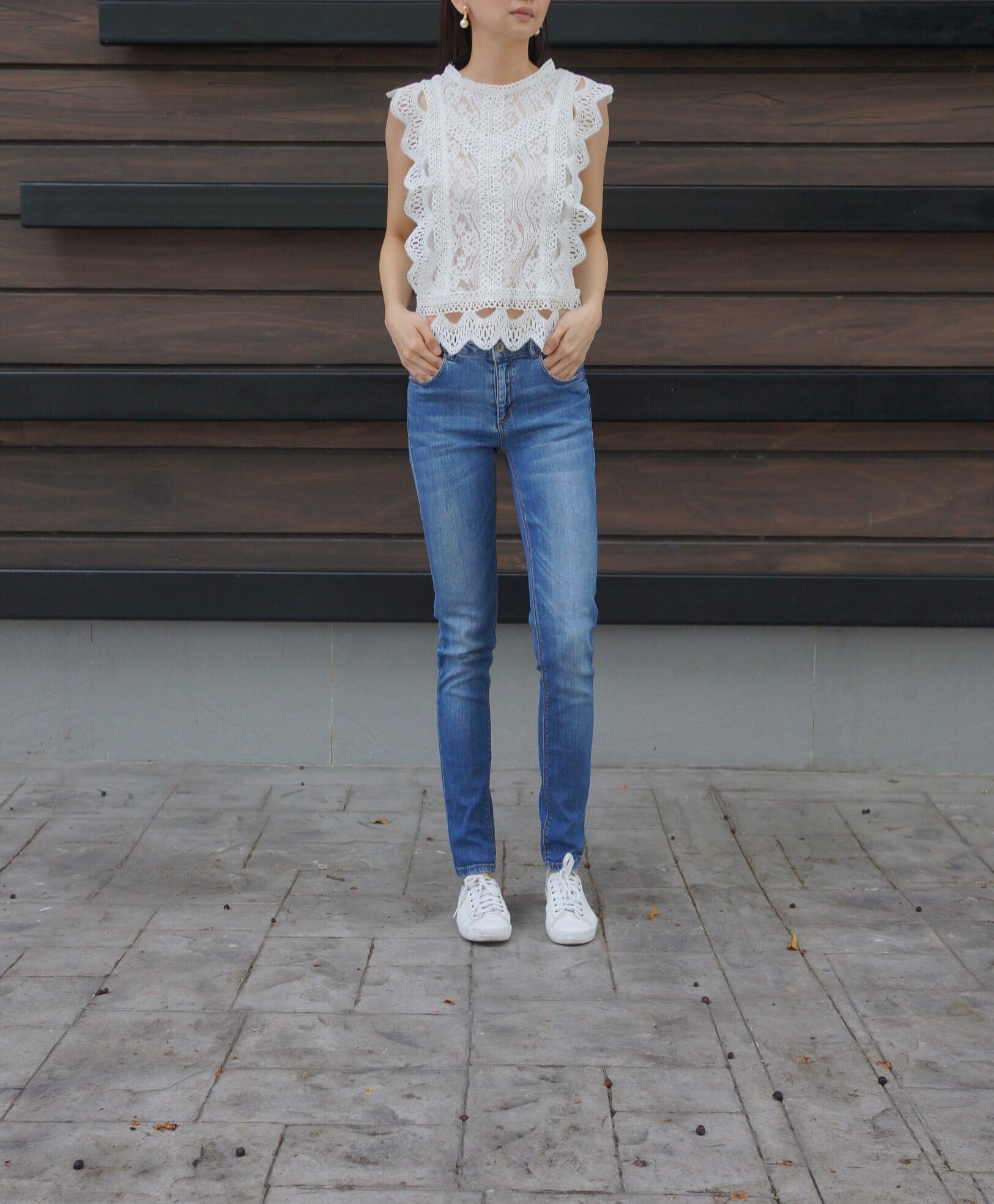Ira Lace Top in White