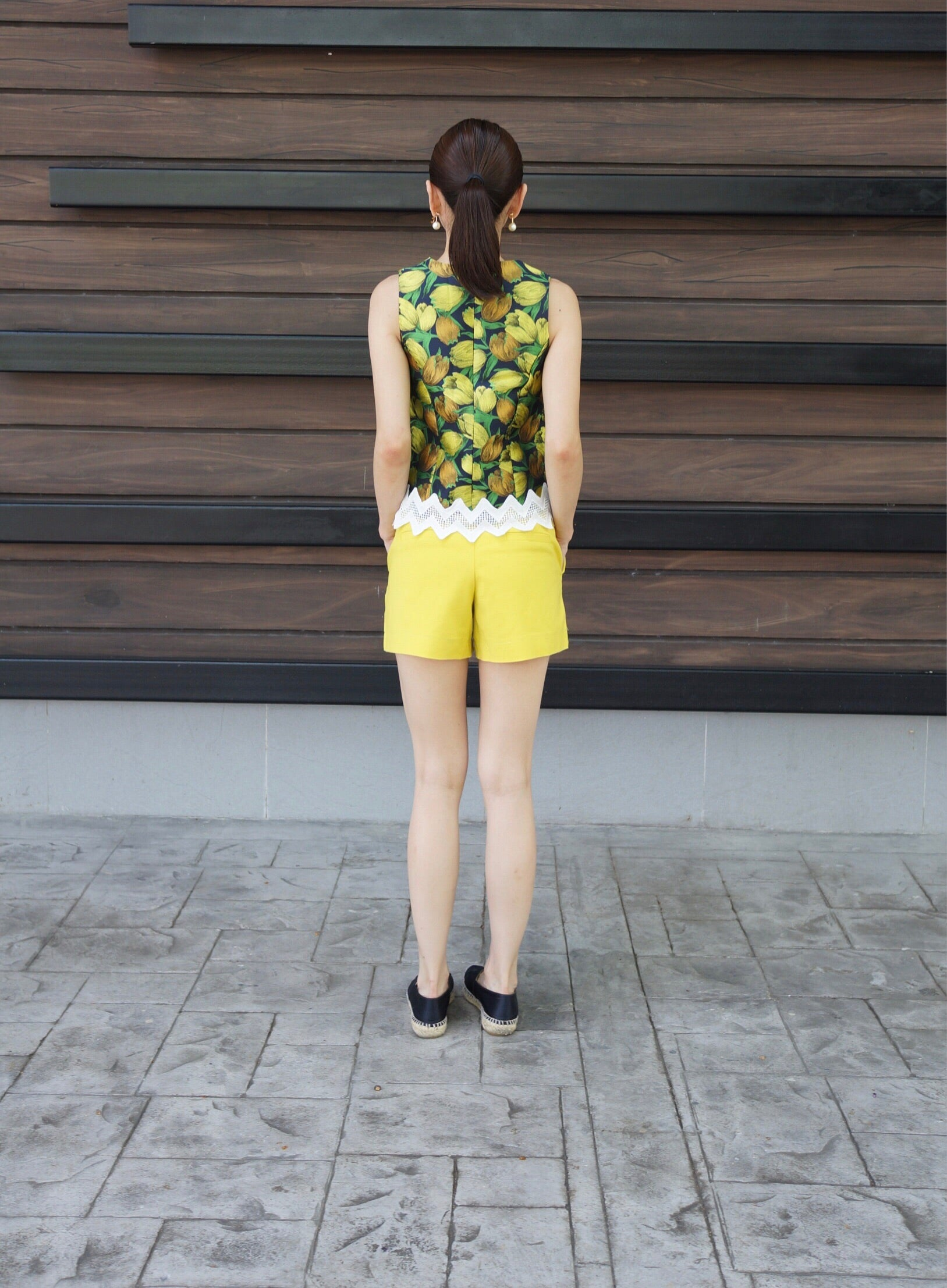 Iesha S/L Laced Top in Yellow