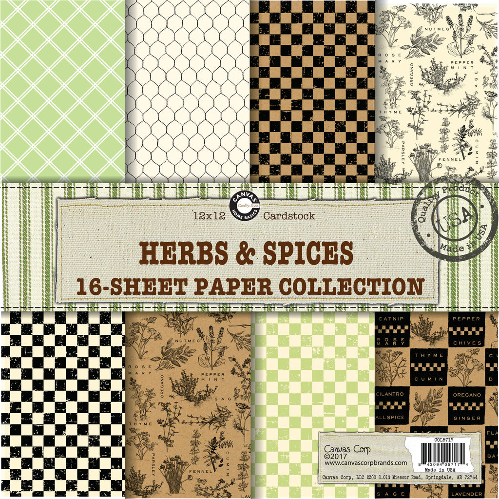 Canvas Corp Herbs and Spices Paper Collection
