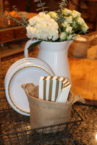 Burlap Basket Plant Holders (available in 3 sizes)