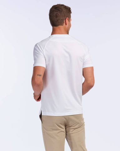 Notch Performance Pique Tee White back image