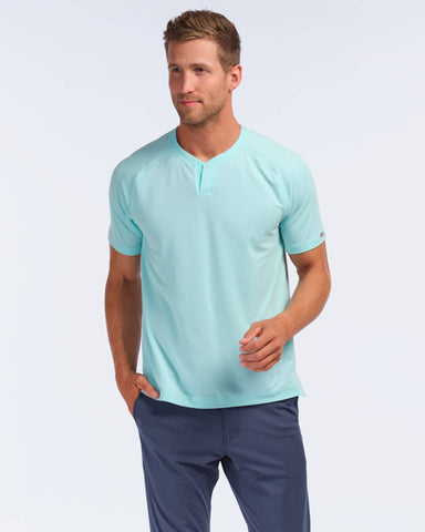 Notch Performance Pique Tee Aruba Blue featured image