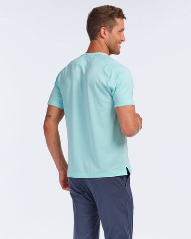 Notch Performance Pique Tee Aruba Blue back image