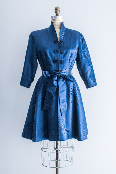 1950's Silk Export Swing Dress Coat - S