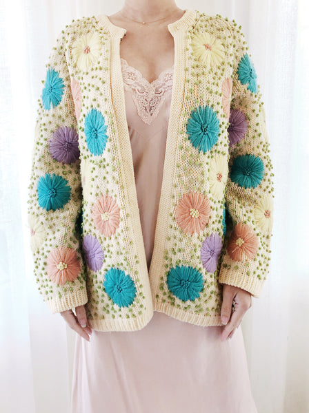 1950s/60s Floral Embroidered Jacket - M