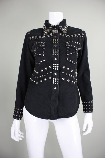 1970's Blouse Allie Flynn for Evan Roberts with Silver Studs