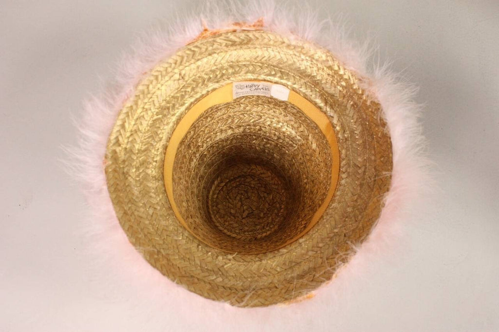 Vintage 1960's Happy Cappers Pink Marabou Feather Hat
