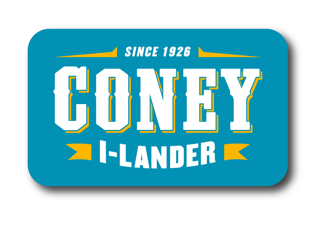 Coney Blue Logo Sticker