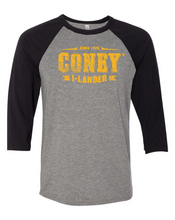 Load image into Gallery viewer, Coney Stamp Logo Baseball Tee