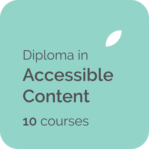 Contented Diploma in Accessible Content teaches how to write accessible content for WCAG 2 web accessibility guidelines and web accessibility standards suitable for government writers, technical writers and web content writers in the UK, USA, Australia, NZ and Canada