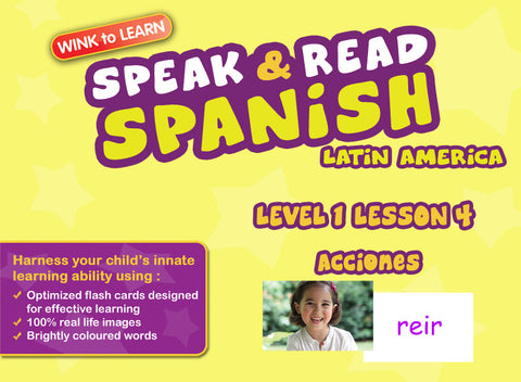 Speak & Read Spanish (Mexican) FREE Online Digital Video - Level  1 - Lesson 4 - Actions