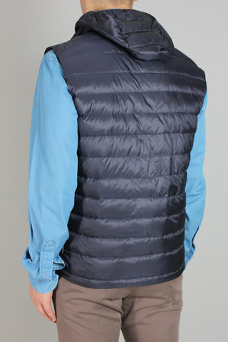 Paul & Shark Gilet Ultra Light Down with Detachable Hood | Navy
