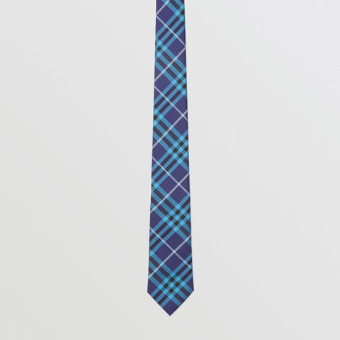 Burberry Tie Slim Cut Check Silk | Bright Navy