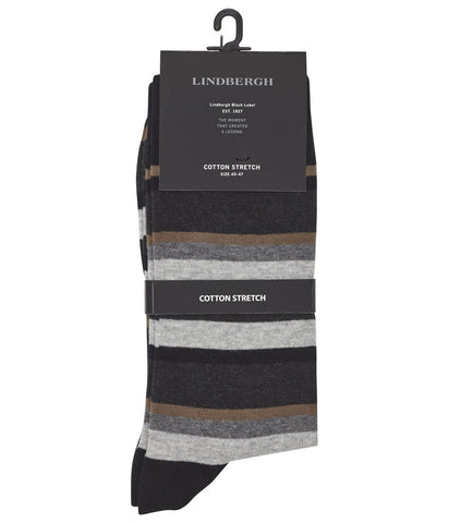 Lindbergh Men's Socks Lindbergh Socks with Stripes | CAMEL