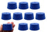 Neoprene Stopper ASTM Solid - Blue ASTM Size: #10 - 42mm Bottom, 50mm Top, 25mm Length - Pack of 10