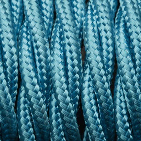 Light Blue Twisted Fabric Flex - Braided Cloth Cable Lighting Wire