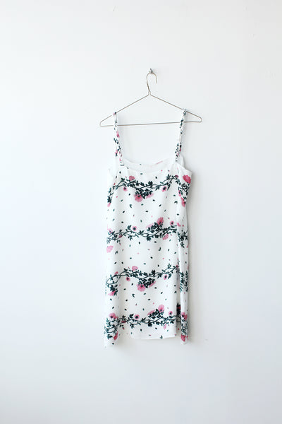 Rose Vine Braided Strap Silk Dress Sample