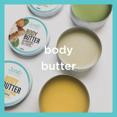 all natural whipped body butter scrub inspired