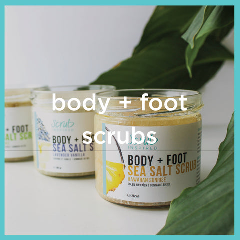 body scrub, foot scrub, salt scrub, all natural scrub inspired