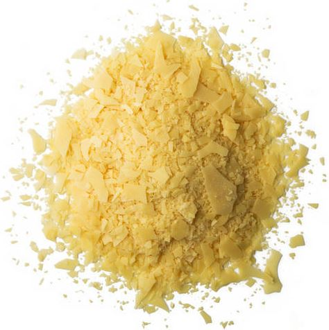 Raw prime yellow carnauba wax.