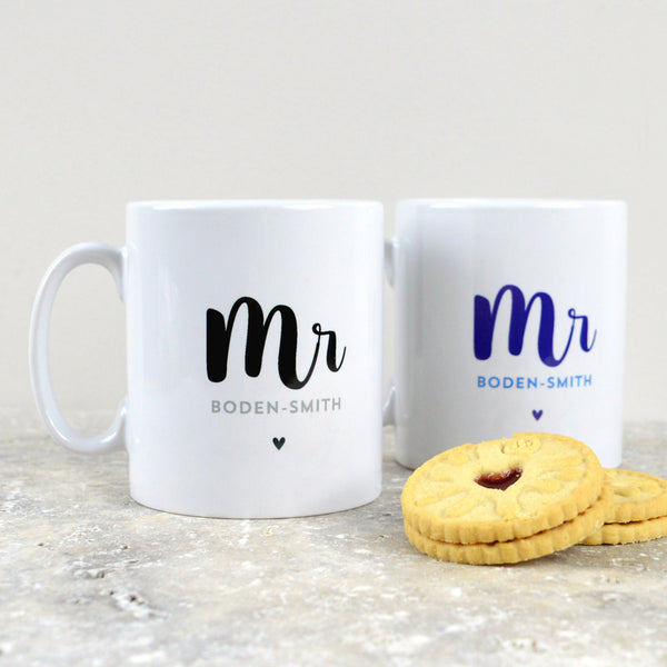 Mr and Mr Personalised Mugs