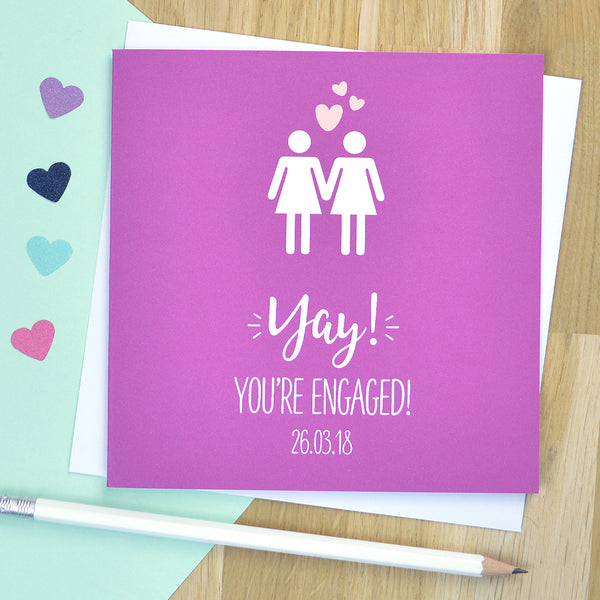 'You're engaged' same sex engagement card