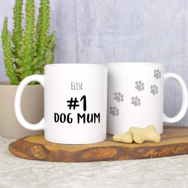 Personalised number 1 dog Mum mug, gift for dog mum, from the dog gift
