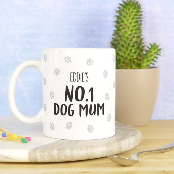 Dog Mum mug, personalised dog mum mug, number 1 dog mum mug, dog mum gift