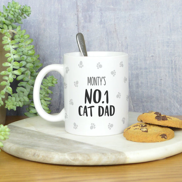 Cat Dad mug, personalised cat Dad mug, gift for cat mum, cat mug