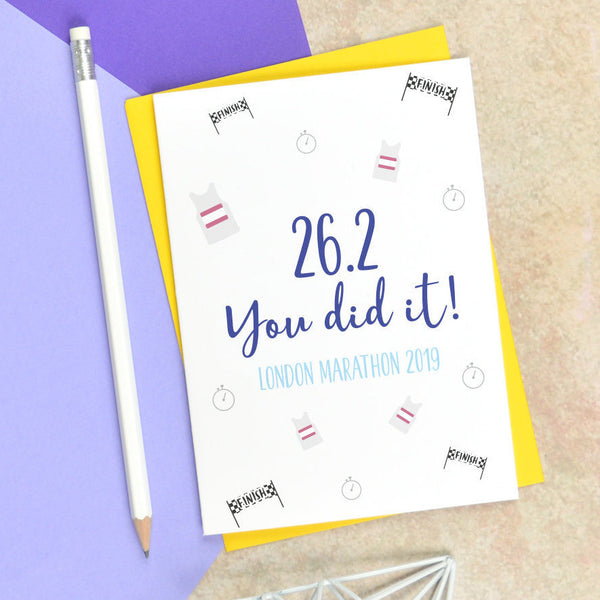 You did it marathon card, congratulations card for marathon runner