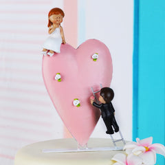 Classic Couple Wedding Anniversary Resin Cake Topper