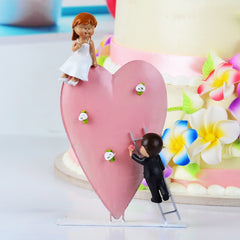 Classic Couple Wedding Anniversary Resin Cake Topper 2