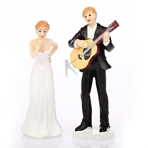 """Play Guitar for You"" Wedding Cake Topper"