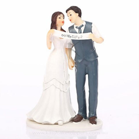 """We Did"" Wedding Cake Topper"