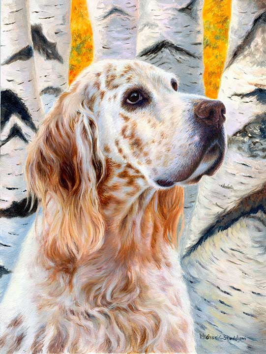 """Coalesce"" A Limited Edition English Setter Print"