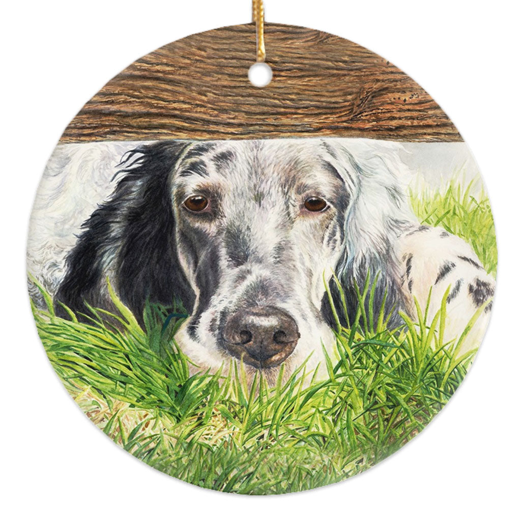 "English Setter ""Missing You"" Christmas Ornament"