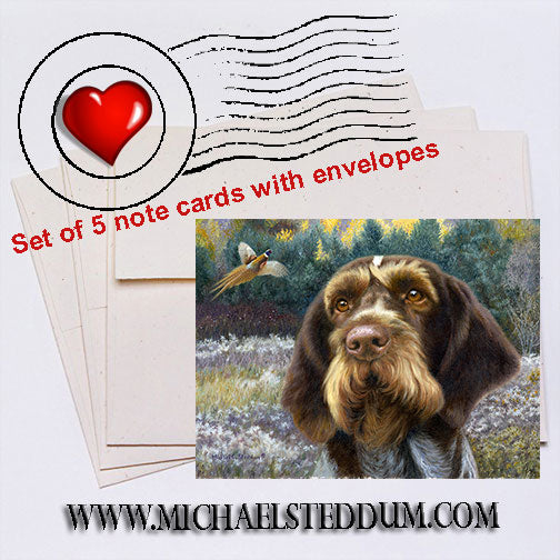 GWPP Oil,  German Wirehaired Pointer Note Card Set